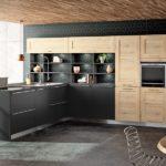 Sagne Cuisine modèle Boreal Lima - Cuisines Debard - Bois clair et meubles anthracites