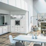 Sagne ambiance Roma Brindisi style provençale blanc - Cuisines Debard