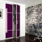 Porte placard ouvrante violette