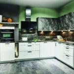 Cuisine blanche effet pierre Nobilia - Cuisines DEBARD