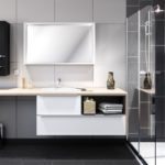 salle de bain YOU meuble suspendu + douche italienne