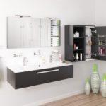 salle de bain YOU meuble suspendu et colonne de rangement